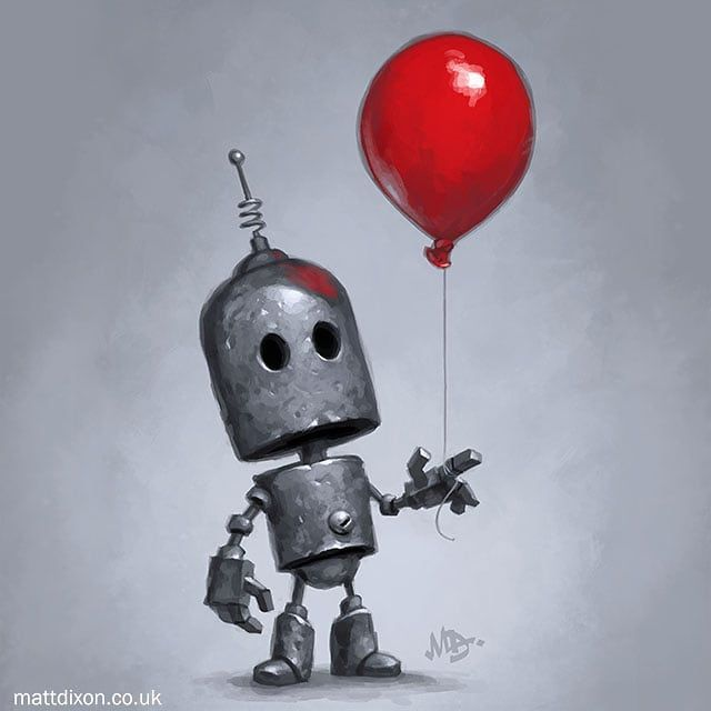 The Red Baloon, Matt Dixon | Robot art, Robots artworks, Robots ...
