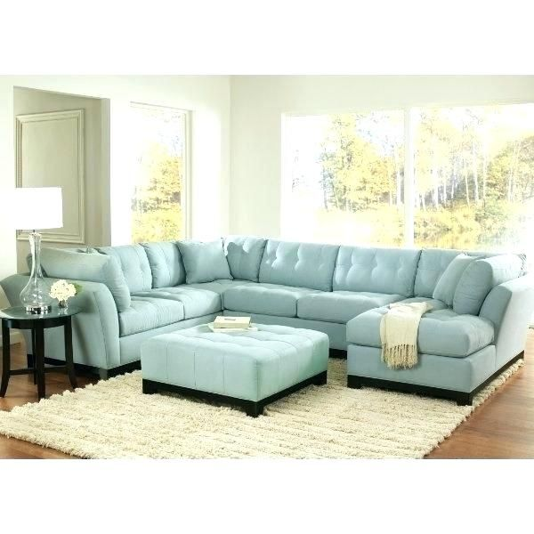 Teal Leather Sectional Sofa In 2020 Blue Sofas Living Room