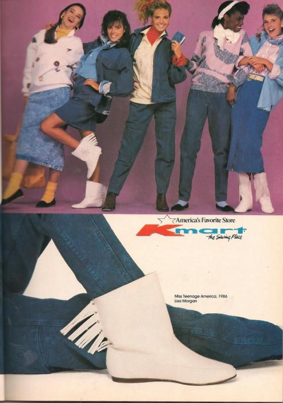 Kmart- Teen Magazine August 1987 Fashion Advertorial '80s Clothes