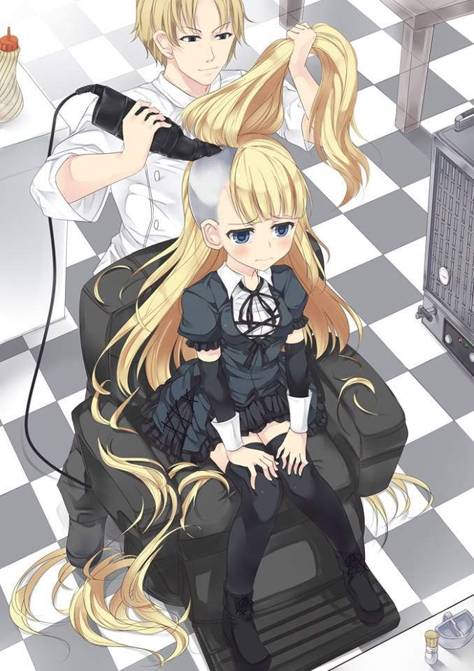 Pin By Rick Locks On Cartoon Anime Haircut Forced Haircut Anime Hair