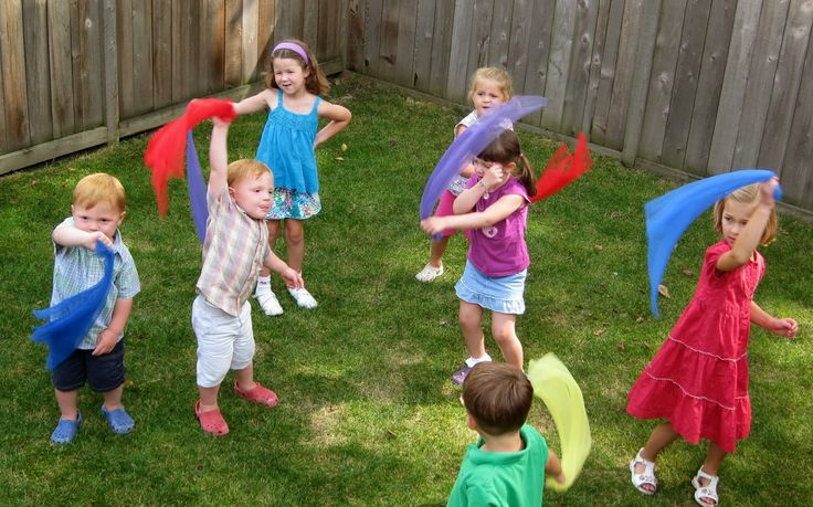 """""""Blow The Wind"""" - with Scarves! from PreK + K Sharing"""