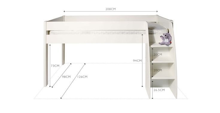 Merlin Mid Sleeper Bed - Frame