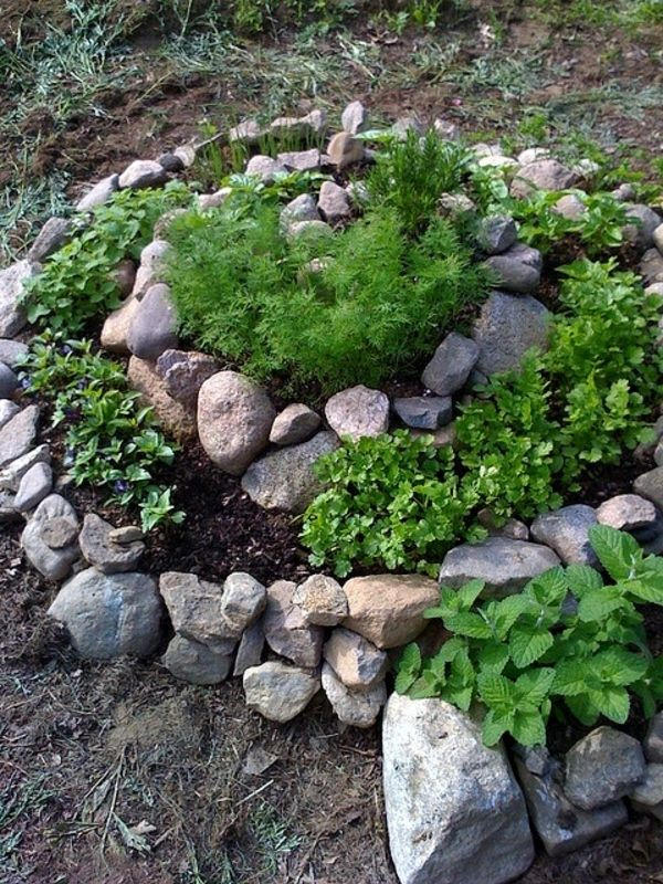 30 Neu Deko Ideen Mit Steinen Im Garten Herb Garden Design Patio Herb Garden Rock Garden Landscaping