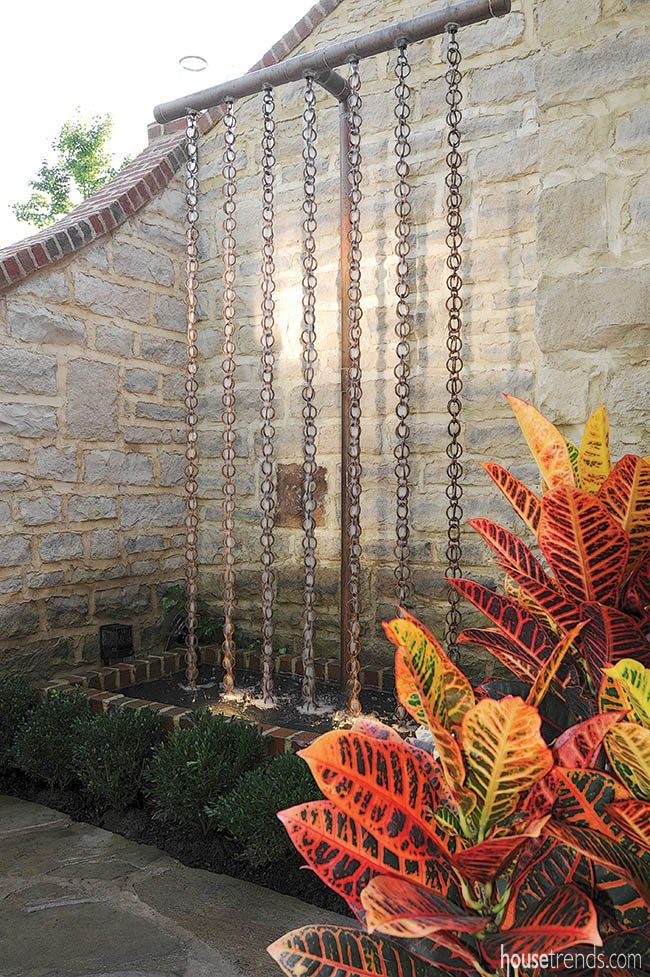 This copper yard art piques interest. #housetrends