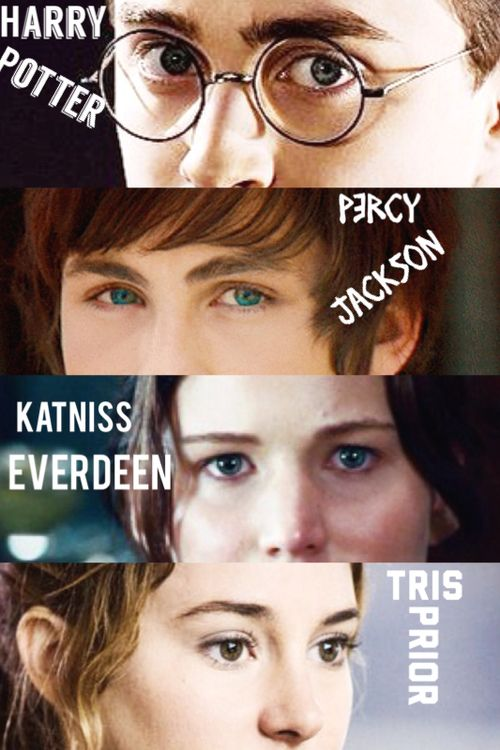 ... harry potter, fandoms, percy jackson, katniss everdeen and tris prior