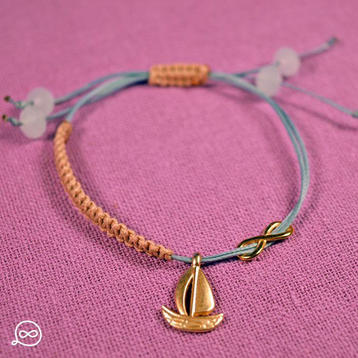 Gold Plated Boat Bracelet. #tufatufa