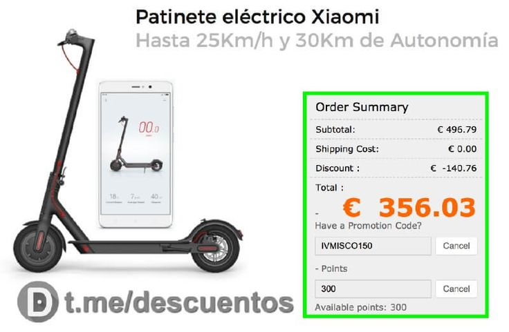 Xiaomi Scooter eléctrico por sólo 356 - http://ift.tt/2n7UY8D