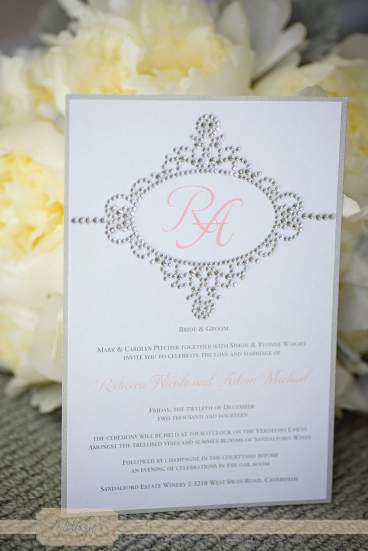 A monogrammed invite looks so beautiful