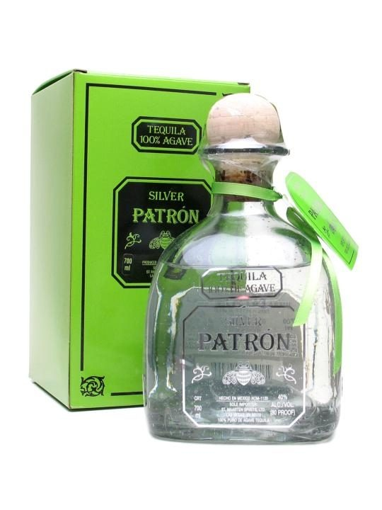 Patron Silver Tequila : Buy Online - The Whisky Exchange - Boutique premium blanco tequila from one of the most famous houses in Mexico, this is a fine white tequila with good purity of flavour.