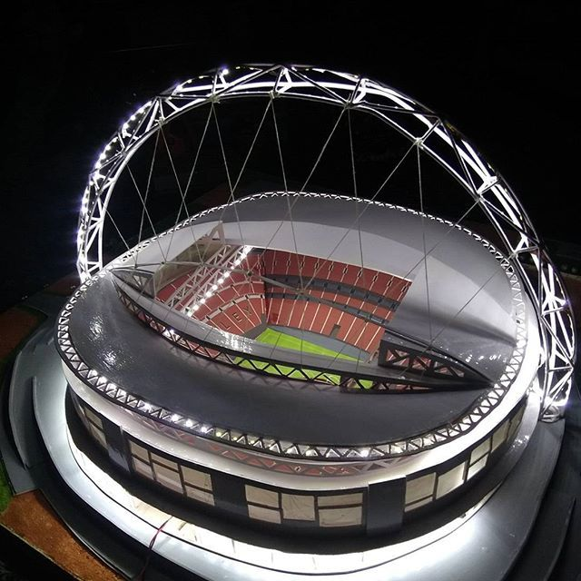 Wembley stadium Model done by @farazfaisal.khan #model_making #lighting #Integral_University #Lucknow #architecture #Allofarchi #architecturefactor #showitbetter