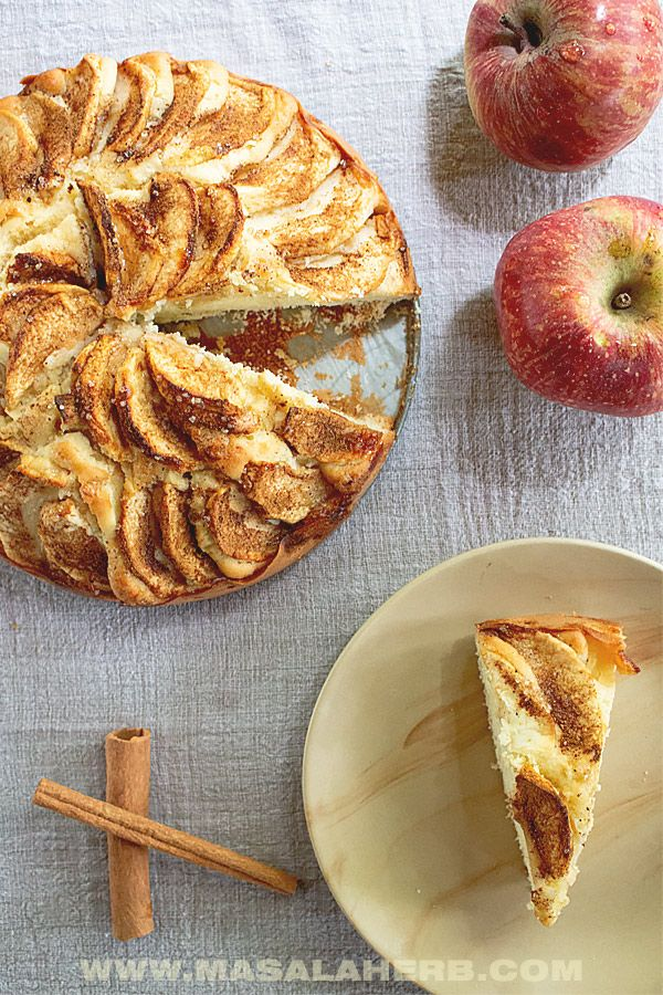Easy German Apple Cake Recipe Authentic Apfelkuchen Masala Herb Apple Cake Recipes Apple Cake Recipe Easy Easy Baking Recipes