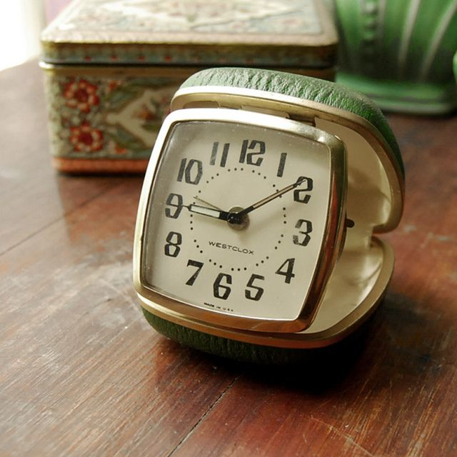 Travel alarm clock. My nanna always had one on her bedside table.