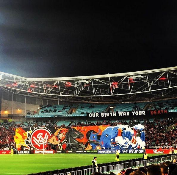 Western Sydney Wanderers - RBB tifo - Derby - against Sydney FC