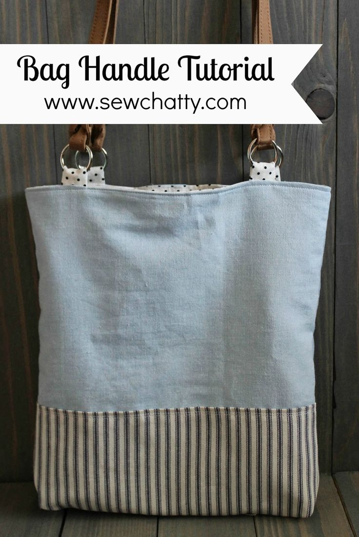 Sew Chatty: {Tutorial} Adding Commercial Handles to Handmade Bags