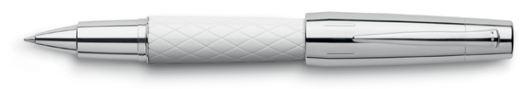 (resin white)Faber-Castell E-motion Twist Roller Ball Rhombus White - Faber-Castell