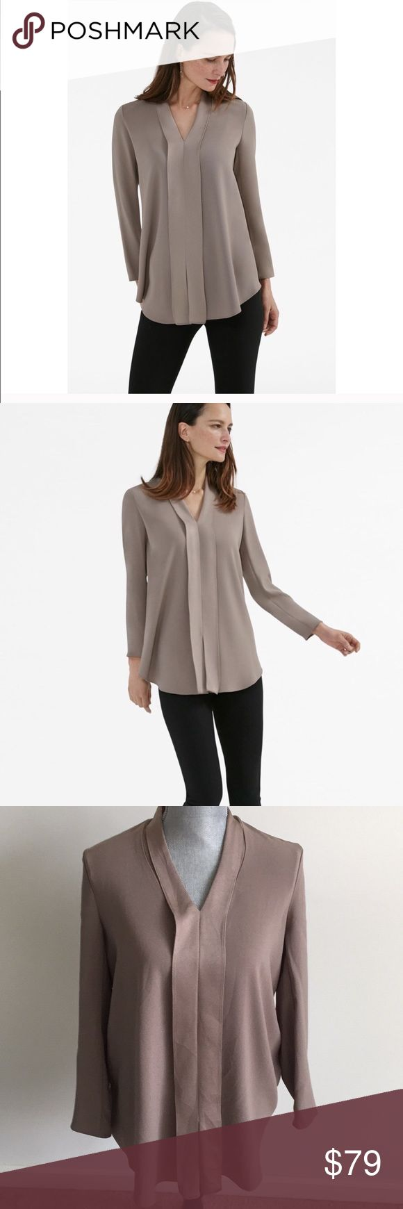 MM Lafleur Fitzgerald Tunic Gorgeous beige long sleeve tunic top. Oversized flowy fit. In beautiful condition with no flaws. MM Lafleur Tops