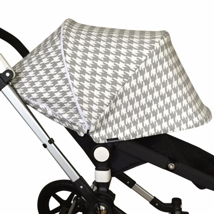 Grey Houndstooth Extendable Hood For Bugaboo Cameleon Cameleon3