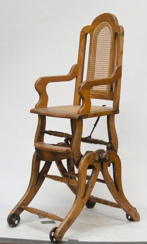 Antique Wooden Combination Baby 39 S High Chair Rocker C1900