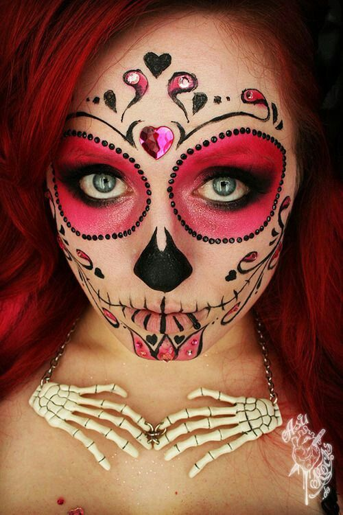 check out 23 best sugar skull halloween makeup ideas sugar skull makeup is everywhere around dia de los muertos and the skill and work involved in - Halloween Day Of The Dead Face Paint