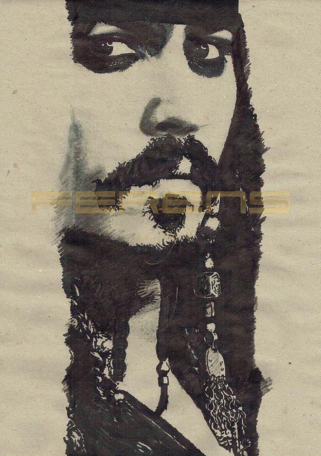 ferens design , rysunek , grafika , ilustracje , JOANNA FERENS - HOFMAN , JOHNNY DEPP , PIRACI Z KARAIBÓW , THE PIRATES OF THE CARIBBEAN , JACK SPARROW