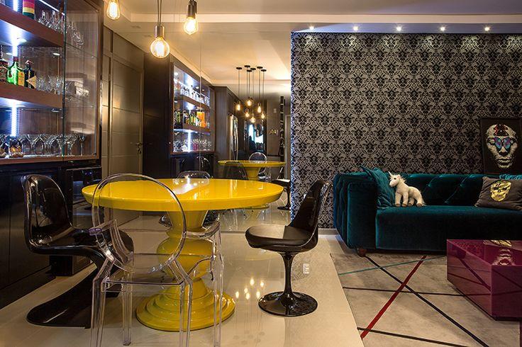 Apartamento jovem e sofisticado pra quem ama preto