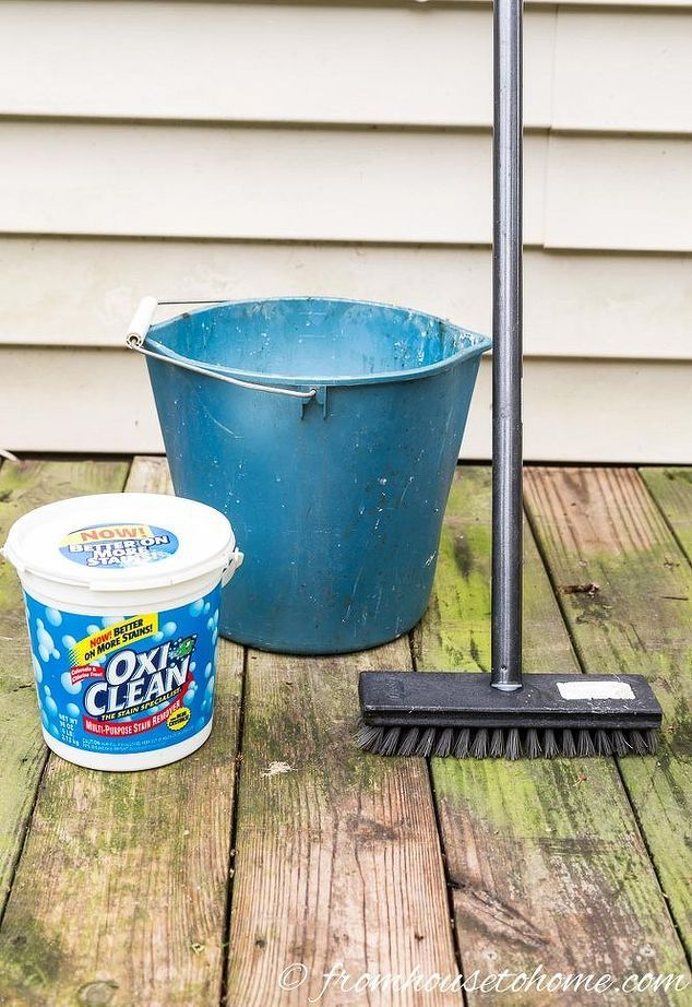 This recipe will make your old deck look brand new and it for Patio cleaning solution