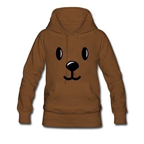 Visage de Nounours Sweat-shirt à capuche Premium pour femmes de Spreadshirt®: Exclusivement imprimé et traité par Spreadshirt. Tissu de…