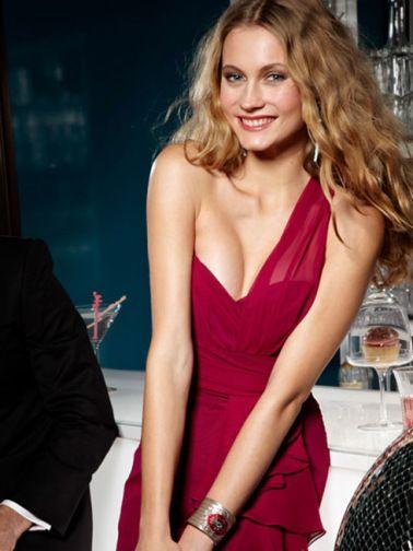 Pretty secrets shock Red greater One Shoulder dress (2)