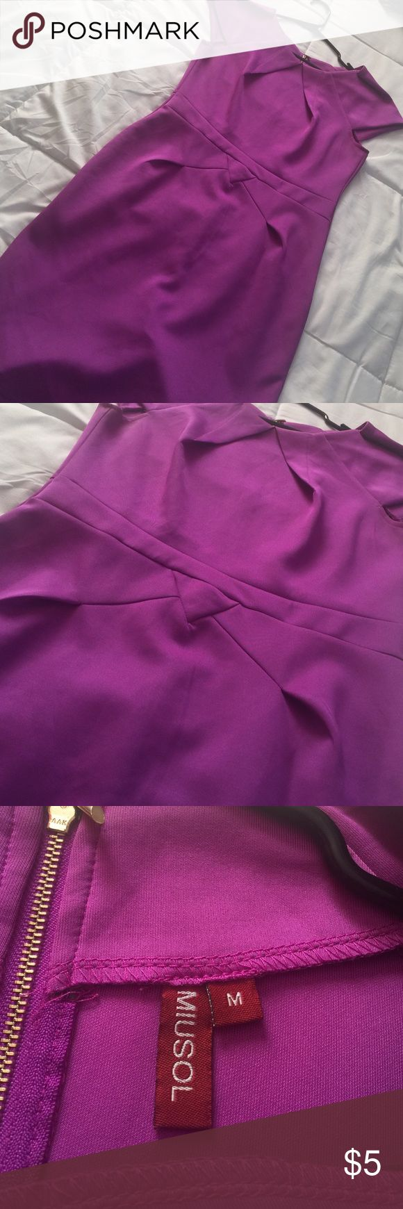 Purple Formal Dress Great condition, worn only once. Perfect dress for a formal engagement or a company party. online boutique Dresses Midi