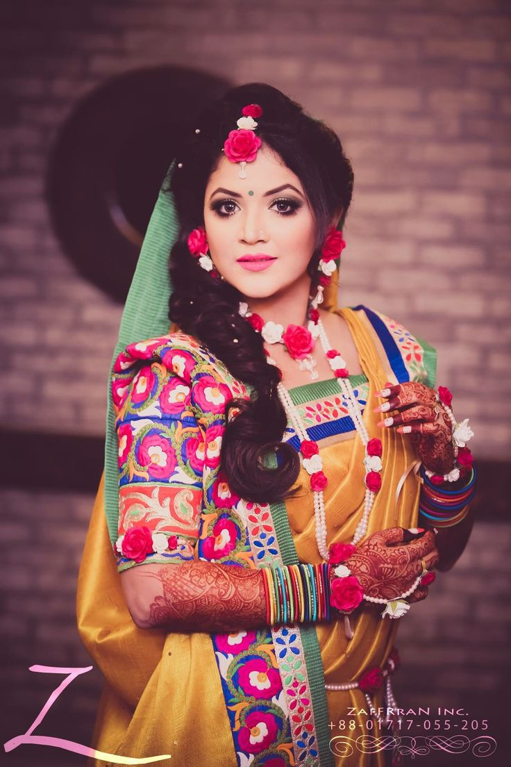 Bride in holud ceremony Bangladeshi wedding
