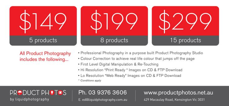 For more details about our #ProductPhotography results and #Photos you can visit us at our location. We are located at 429 Macaulay Road Kensington, Melbourne - Victoria 3031.