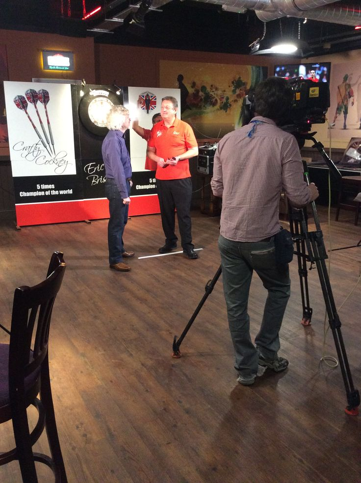 Eric Bristow filming for the one show!