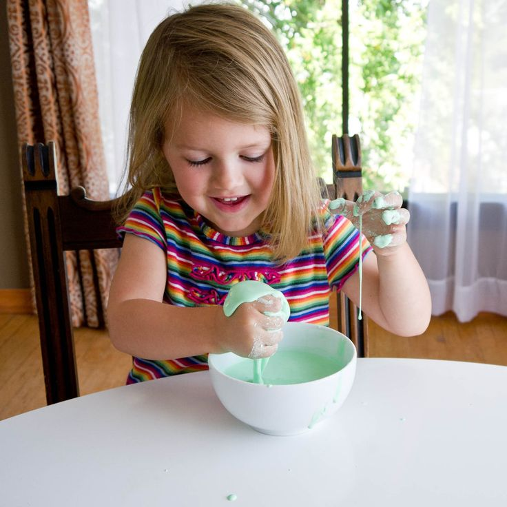 Squishing something slimy is serious fun for lil ones, making this homemade goop recipe good for hours of excitement. This concoction only requires three ingredients that you probably already have in your pantry and is completely safe for little kids.