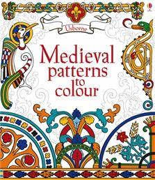 Medieval patterns to color - coloring for littles, could have a little water color set for older kids