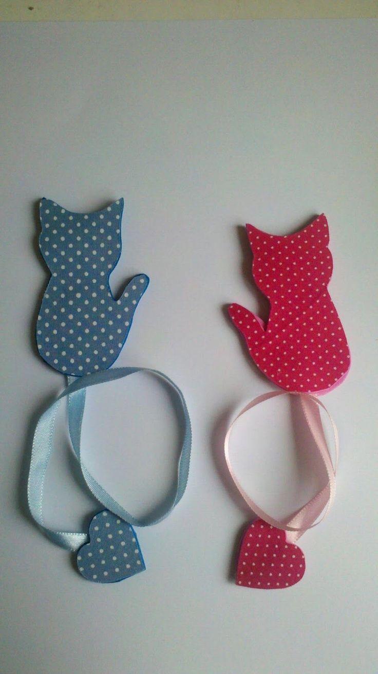 Strelamicheli Artes : Marca páginas de gatinho em EVA !!!