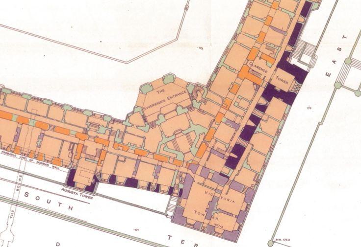 Windsor Castle. -- ground floor. | Castle floor plan ...