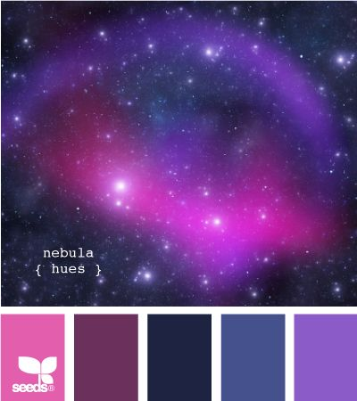 nebula hues: Colors Pallets, Colors Combos, Design Seeds, Blue And Purple Bedrooms Ideas, Pallets Design, Colors Palettes, Wedding Colors, Colors Schemes, Nebulas Hue
