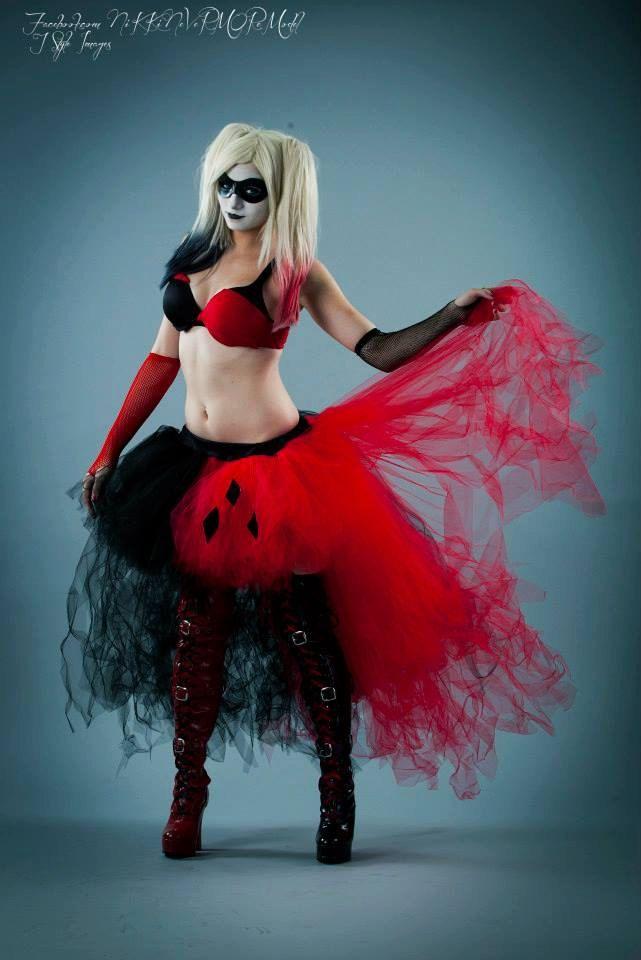 Harley Quinn Adult tutu skirt Wedding Formal by SistersOfTheMoon