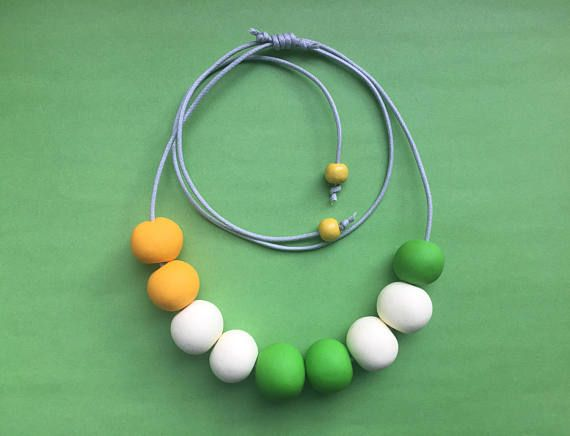 Hey, I found this really awesome Etsy listing at https://www.etsy.com/uk/listing/508755544/yellow-clay-necklace-clay-bead-necklace