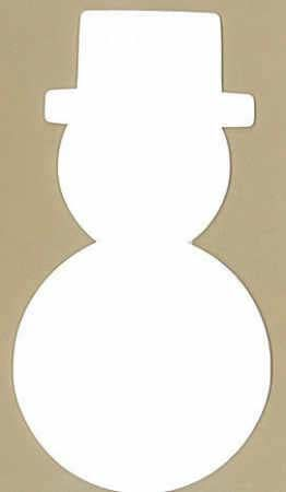 "8"" White Craft Foam Snowmen - 12pcs"