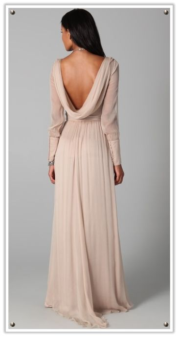 Best 25 elegant backless dress ideas on pinterest sexy for Backless wedding dresses with sleeves