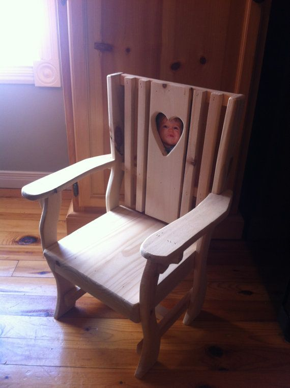 HANDMADE Children's Pine Wooden Chair. by CanadianWoodenCrafts
