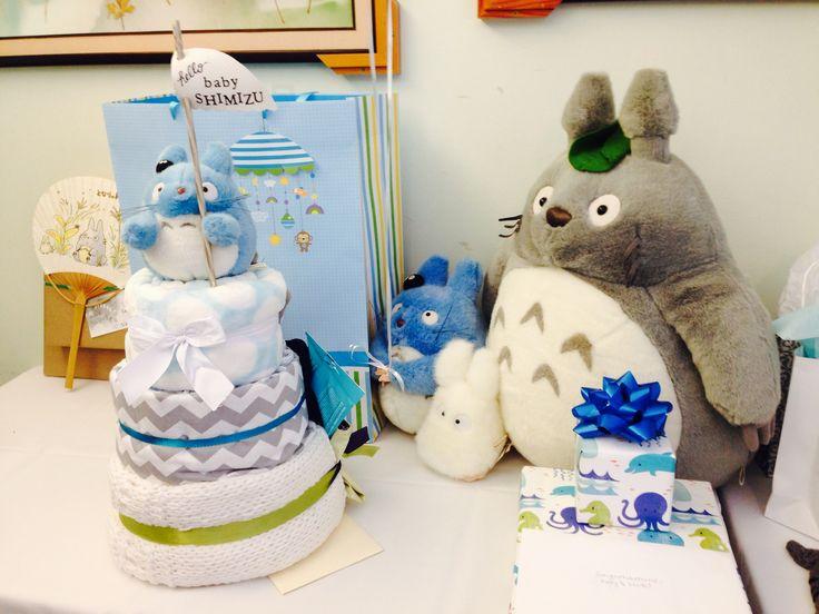 Totoro baby shower // Totoro diaper cake // It's a boy