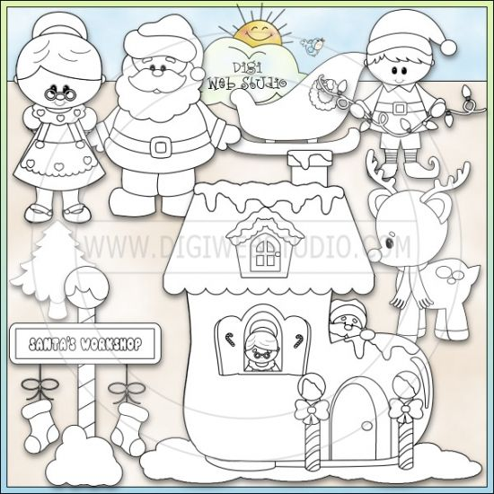 office santas workshop coloring pages - photo #18