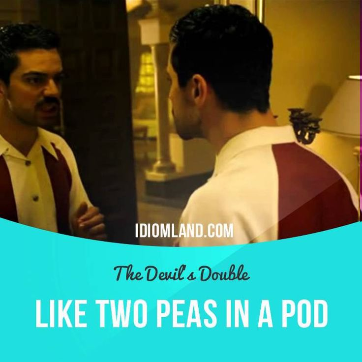 """""""Like two peas in a pod"""" means """"very similar"""". Usage in a movie (""""The Devil's Double""""): - Oh! Two peas in a pod. #idiom #idioms #saying #sayings #phrase #phrases #expression #expressions #english #englishlanguage #learnenglish #studyenglish #language #vocabulary #dictionary #grammar #efl #esl #tesl #tefl #toefl #ielts #toeic #englishlearning"""