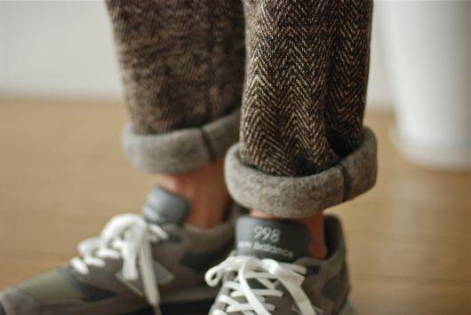 Herringbone fleece pant.