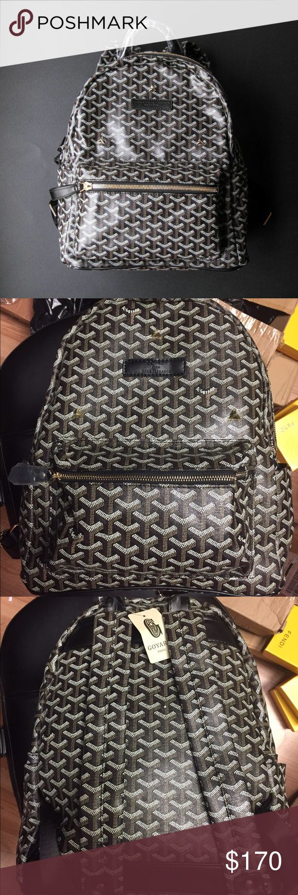 Goyard Bookbag NOT auth. Does come with tags & dustbag. Leather material . Medium sized. I also offer discounts through ️️ Bags Backpacks