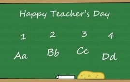 Teachers Day Special Board Work By Students