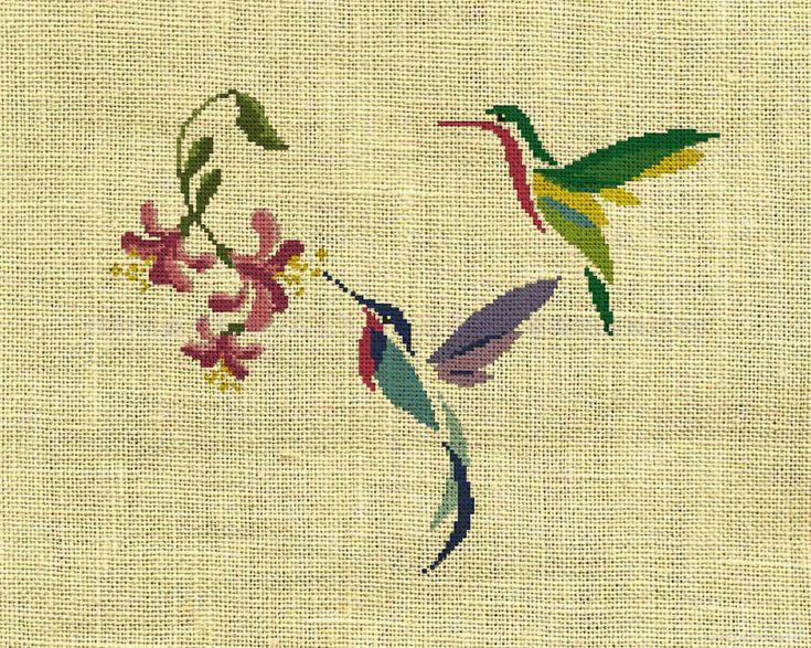 Bird/Hummingbird/animal Counted Cross Stitch Pattern by crossstitchgarden on Etsy