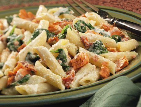 Creamy Salmon Pasta - Salmon Recipes - Clover Leaf Canada